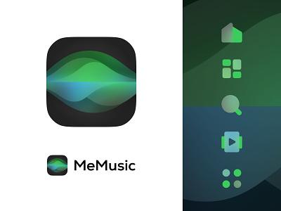 MeMusic Logo icon vector web design app branding logo