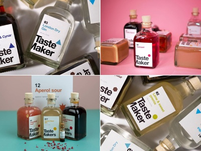 TasteMakers Branding rebranding redesign alcohol coctails drinks logo branding