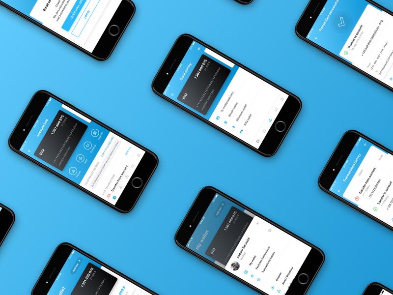Crypto wallet mobile app design