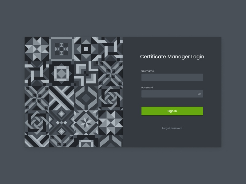 Certificate Management System Login