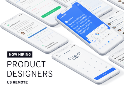 We're Hiring! work remote work hire product designers remote product designer hiring