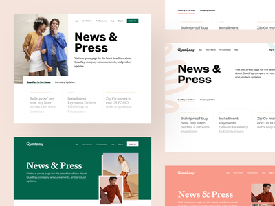News & Press - Website Page branding website design design exploration ui design design