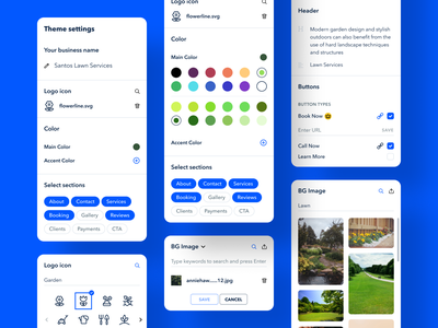Customizable website template design system custom templates mix and match ios design
