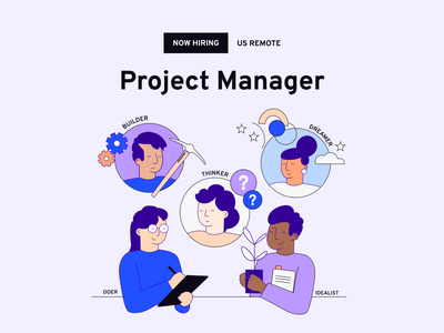 Hiring a Project Manager! design values illustration design team project manager design agency hiring