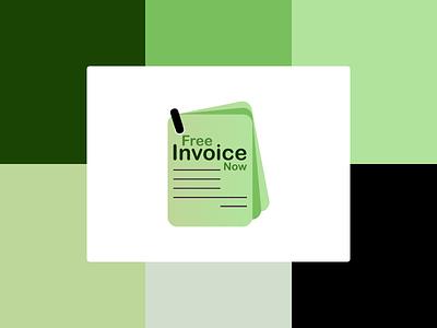 Logo for a Invoice Builder Website branding logo