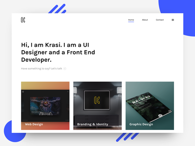 Front End Developer and UI Designer Portfolio modern design ui design web design front end development personal portfolio portfolio