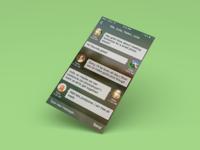 iOS7 Concept - Group Chat Screen ios7 ui design chat screen group chat concept