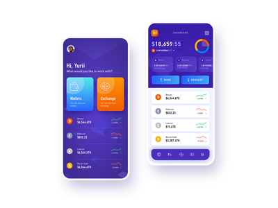 Dash crypto fintech app crypto wallet crypto exchange crypto currency mobile app design dashboard user experience simple solution interface clean design services ui ux
