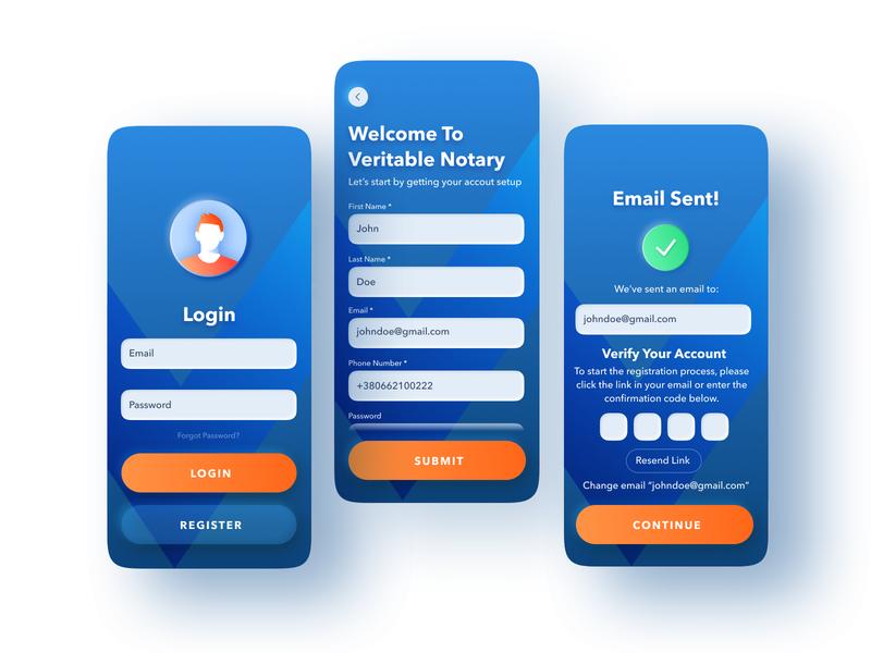 Login screens login screen learning app neomorphism mobile app design mobile app dashboard user experience simple solution clean design services ui ux