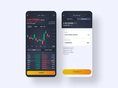 Trading [animation] crypto trading crypto exchange crypto wallet mobile app design mobile app interface user experience simple solution clean design services ui ux
