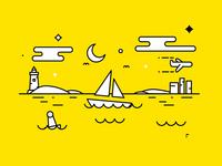 Yellow Yacht