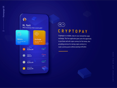 Cryptopay homepage bitcoin wallet parallax crypto wallet crypto trading interaction animation animation after effects crypto exchange fintech app call to action user experience ui ux