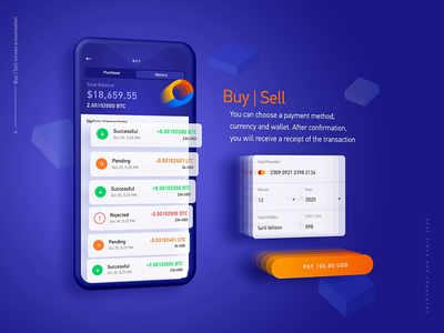 Exchange screen AR parallax effect product design crypto dashboard mobile app design 3d effect animation 2d crypto exchange crypto currency crypto wallet interaction design motion graphic illustration user experience ui ux