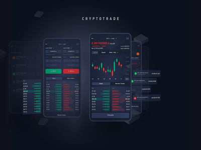 Trade AR fintech app finance app crypto wallet crypto exchange crypto currency motion graphic animation design interaction mobile app illustration mobile app design dashboard clean design services ui ux