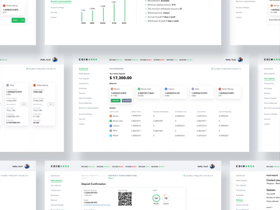 Coinarea white & black thems branding blockchainfirm trading platform interaction animation fintech app crypto wallet crypto exchange cryptocurrency dashboard user experience clean design services ui ux
