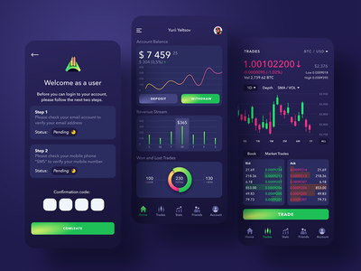 Goal dashboard trading platform fintech app finance app dashboad interface dashboard user experience mobile app mobile app design simple solution clean design ui services ux