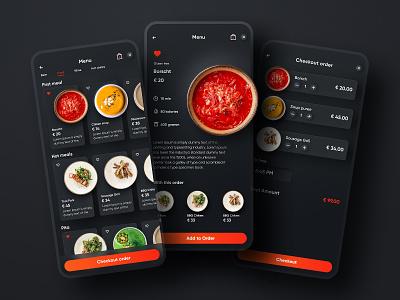Rest app menu restaurant app food app delivery app mobile app mobile app design user experience simple solution clean design services ui ux