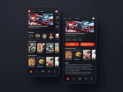 Rest app home screen motion design food app restaurant app animation interaction mobile app mobile app design user experience simple solution clean design services ui ux