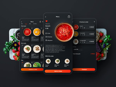 NOQU menu user interface design user experience delivery app animation restaraunt app food delivery app mobile design mobile app design interactive microinteraction services ui ux