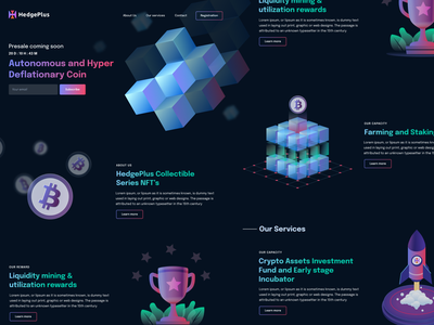 Mining platform interface illustration blockchain trading platform cryptocurrency user experience clean design services ui ux