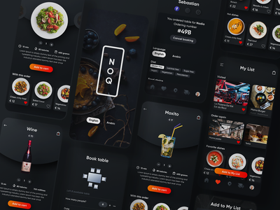 NOQ updated restaurant delivery app branding mobile app design mobile app interface user experience clean design services ui ux
