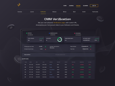 CMM Verification crypto currency finance app fintech app blockchain investment trading platform illustration simple solution user experience clean design services ui ux