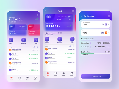 Crypton app UI fintech app finance app blockchain crypto wallet mobile app mobile app design dashboard simple solution user experience clean design services ui ux