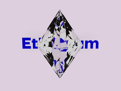 Ethereum crystall illustration dispersion octane render motion design cinema 4d 3d art cryptocurrency ethereum