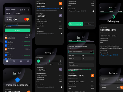 Crypton sborka crypto exchange crypto currency crypto wallet crypto trading blockchain mobile app mobile app design dashboard simple solution user experience clean design services ui ux
