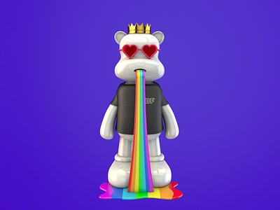 NFT bear rainbow 3d artist 3d nft character solana art nft token nft bear nft collection nft art nft