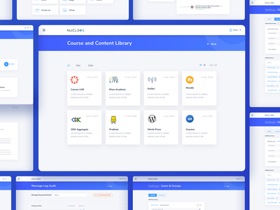 Nukleos main data visulization dashboard design cms crm icons dashboard user experience simple solution interface clean design services ui ux