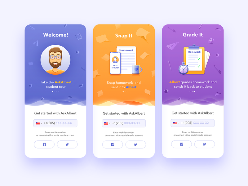 Aa Splash Screens education app flat illustration splashscreen mobile app design illustration mobile app user experience simple solution interface clean design services ui ux