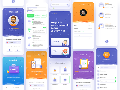 aa Sborka product design mobile app design usability product illustration education app mobile app illustration user experience simple solution interface services ui ux