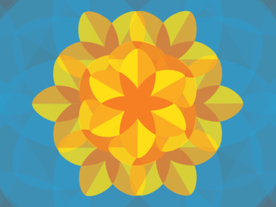 The Great Daffodil Appeal 2015 charity vector illustration vector geometric mosaic illustrator illustration daffodil daffodil appeal poster leeds marie curie