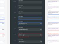 Design system input fields