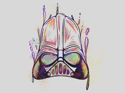Darth Vader villian characterdesign characters darthvader starwars line character icon 2d flat vector design illustration