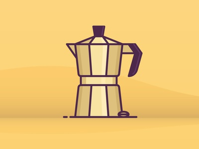 Espresso website coffee office ux ui line icon 2d flat vector design illustration