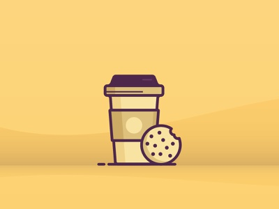 Coffee Cup coffee office ux ui line icon 2d flat vector design illustration