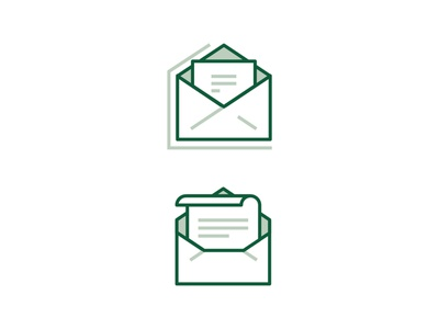 Email Icon ecommerce banking app bank business email work coffee office ux ui line icon 2d flat vector design illustration