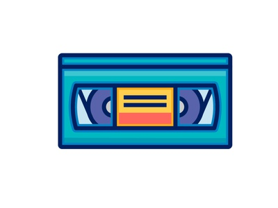 Cassette 2 Isaac Anthony isaacanthonyza music cassette retro ux ui line character icon 2d flat vector design illustration