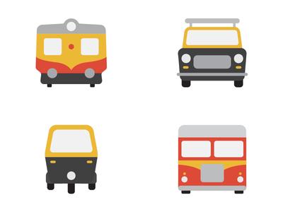 Bombay Transport Icons