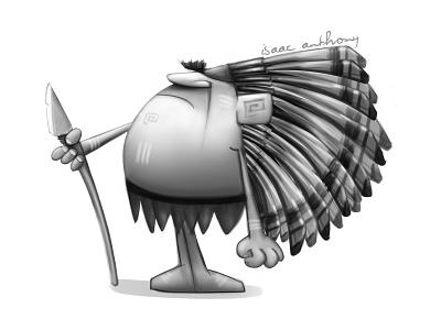 Mogambo  illustration design character animation indian red funny film short mogambo
