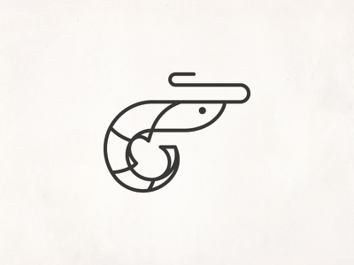 Prawn vector shrimp sea seafood prawn line illustration icon design
