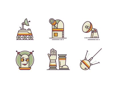 Retro Space Icons