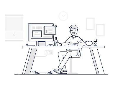 The Social Addict skateboard instagram twitter computer desk video user online youtube facebook addict