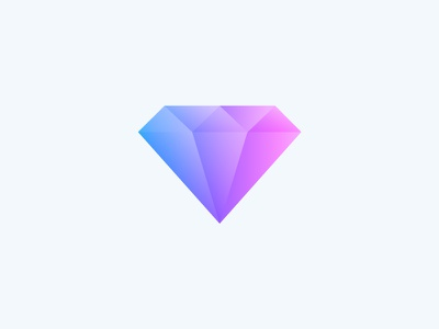 Diamonds Are Forever 2d 3d colour design illustration icon ruby code ux ui flat diamond