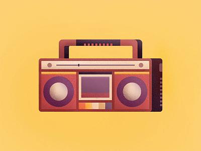 Retro Radio vector ui retro radio music line illustration icon fm flat cassette 2d