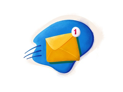 You've Got Mail photoshop gmail texture vector mail illustration icon flat design icons ben 2d