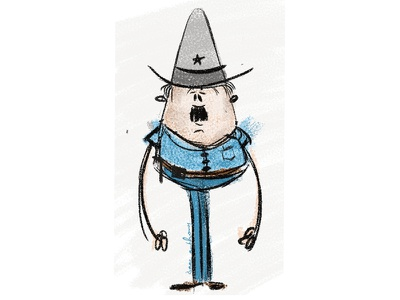 Copman viking vector sheriff illustration hat police flat design comic character cop 2d