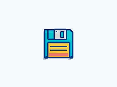 Save! vector storage save retro illustration icon floppy drive disk design computer